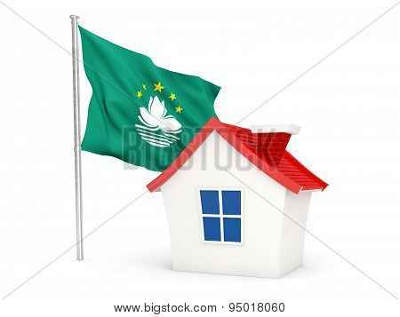 House With Flag Of Macao