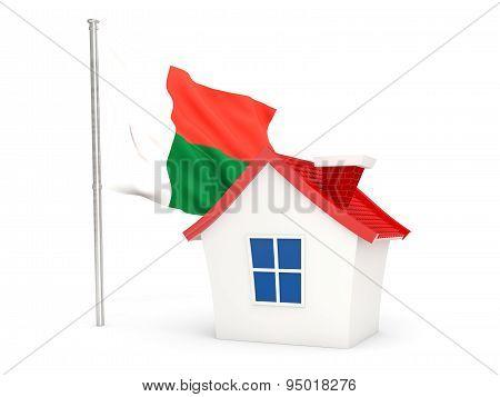 House With Flag Of Madagascar