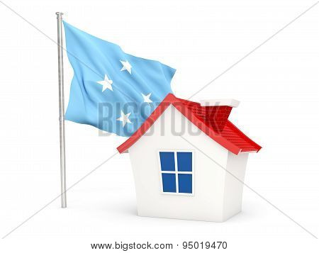House With Flag Of Micronesia
