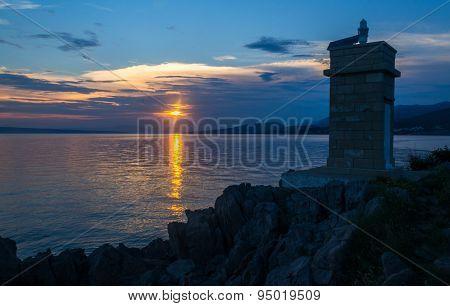 Sunset over Sea in Klenovica