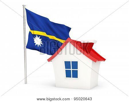 House With Flag Of Nauru