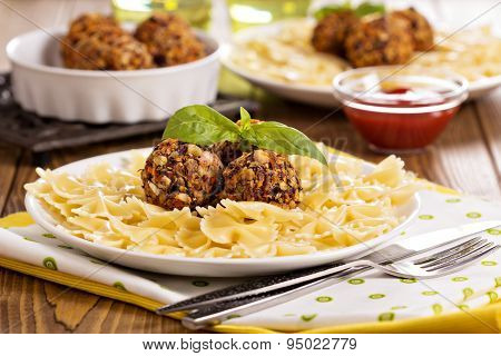 Vegan meatballs made with beans
