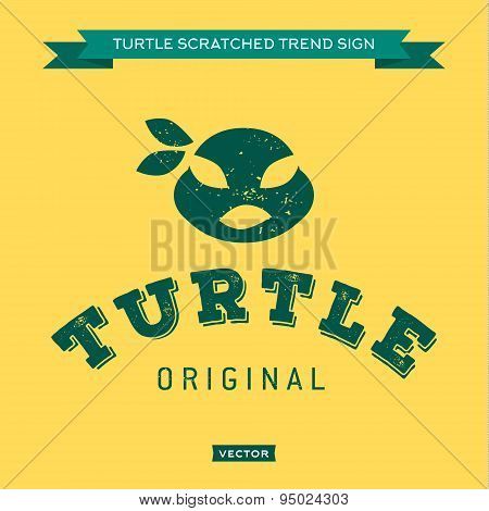 Turtle mouth eye bandages, green, muzzle, face, logo, icon, hero