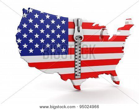 Zip and USA