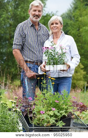 Portrait Of Mature Couple Shopping At Garden Center