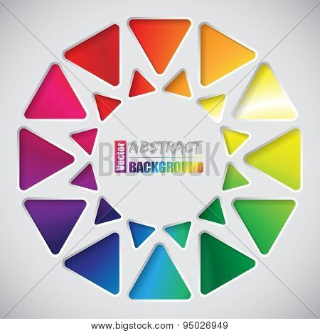 Abstract Background With Triangles And Rainbow Background