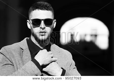 Handsome Well Dressed Man In Sunglasses