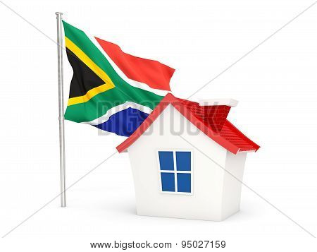 House With Flag Of South Africa