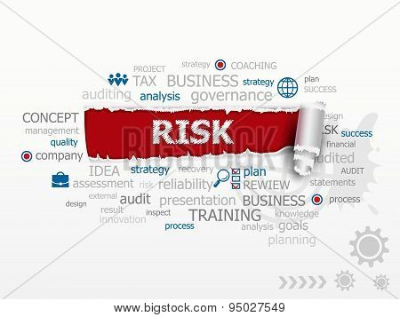 Risk Concept Word Cloud.