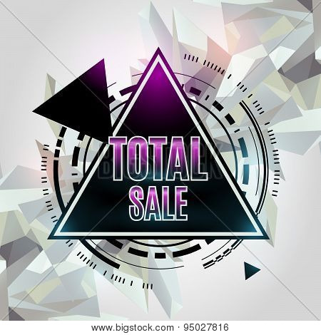 Total Sale Abstract Geometric Background