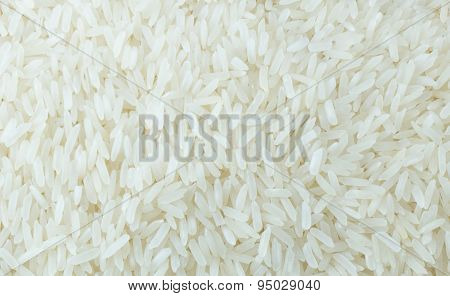 Close Up Of Thai Jasmine Rice Background