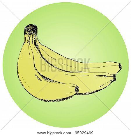 Fresh Bananas Of Yellow Color.