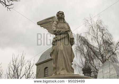 Angel Statue Near The Church