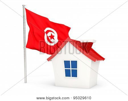 House With Flag Of Tunisia