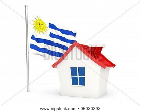 House With Flag Of Uruguay