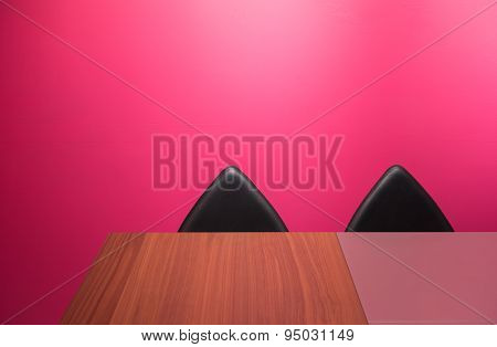 Abstract Wall, Chairs & Desk  & Desk
