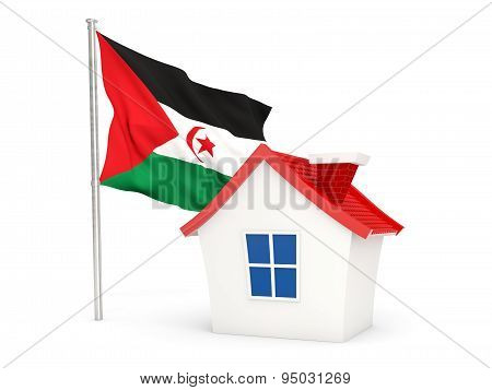 House With Flag Of Western Sahara