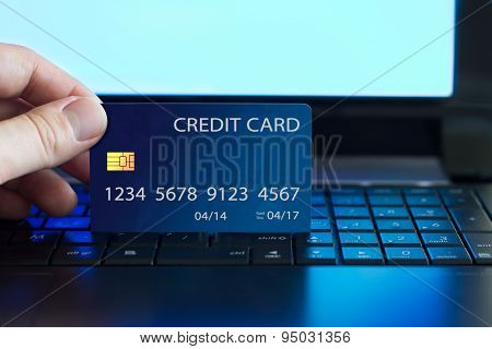 Credit card payment on the internet