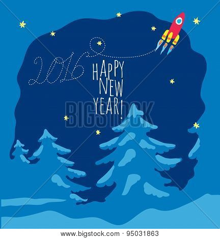 Happy New Year theme 1 - vector illustration.
