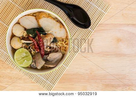 Tom Yum Spicy Soup Noodle : Thai Food