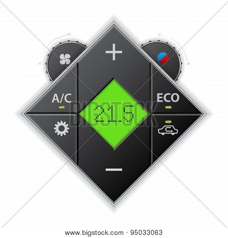 Car Auto Climatronic Gauge With Lcd