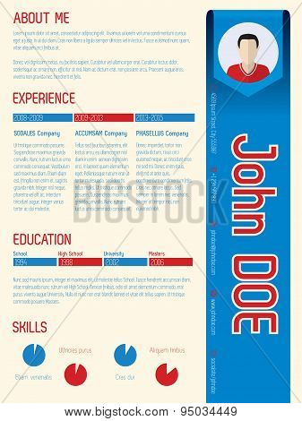 Cool Modern Curriculum Vitae With Arrow Ribbon