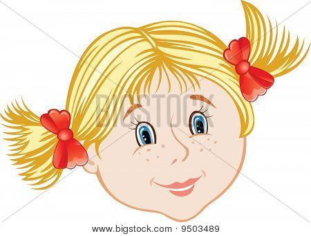 Face Of Little Girl