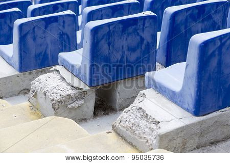 Old Blue Stadium Seats