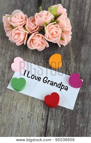 love message for grandpa