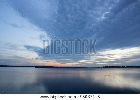 Lake Butte Des Morts At Dusk