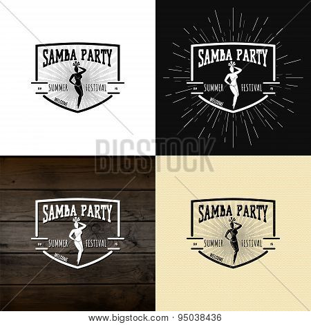 Samba party badges logos and labels for any use