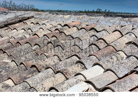 Sicilian Roof, With Old Terracotta Tiles.