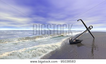 Shoreline With Anchor