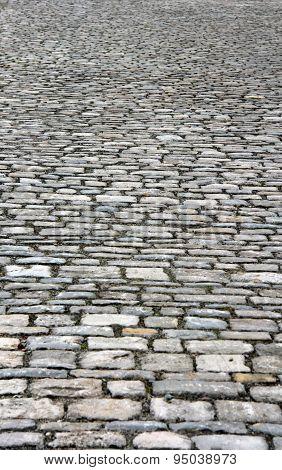 Cobblestone street floor