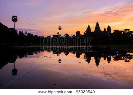 Angkor Wat At Sunrise, Siem Reap, Cambodia