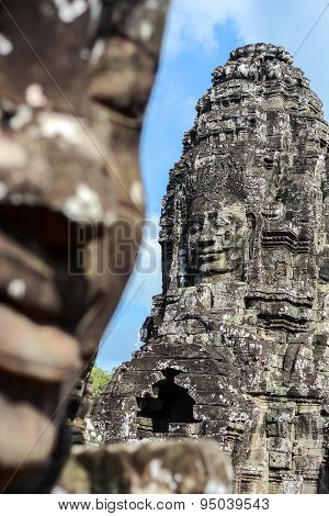 Face Of Ancient Bayon Temple