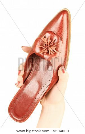 Red Woman's Shoe