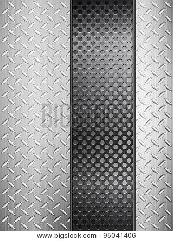 Diamond Metal Background And Grid Vertical