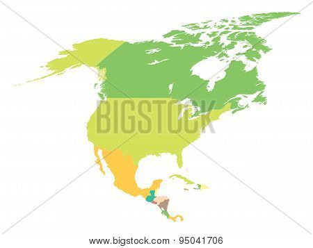 Political Map North America
