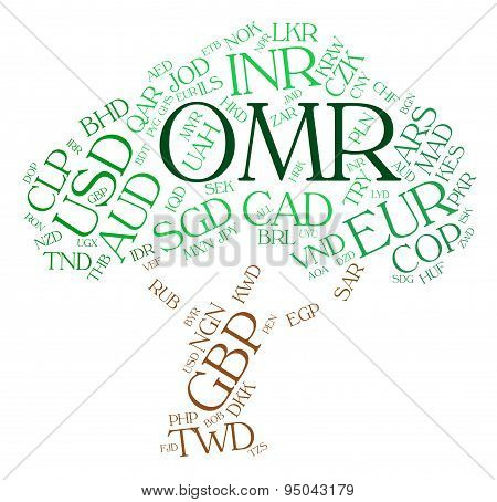 Omr Currency Indicates Omani Rials And Foreign