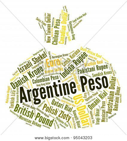 Argentine Peso Represents Exchange Rate And Broker