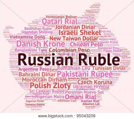Russian Ruble Indicates Forex Trading And Coin