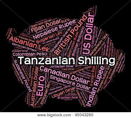 Tanzanian Shilling Means Foreign Currency And Broker