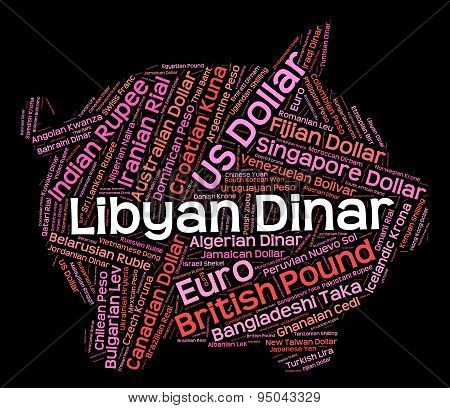 Libyan Dinar Shows Worldwide Trading And Currencies