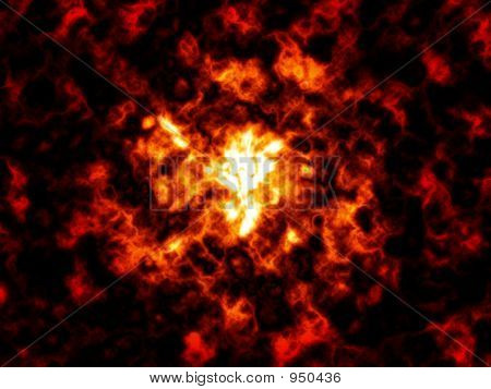 Fire Cloud Background Abstract