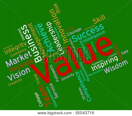 Value Words Indicates Quality Assurance And Certified