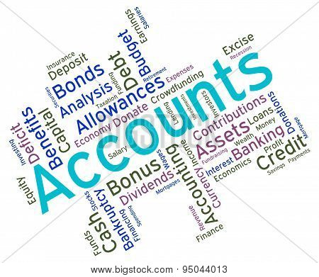 Accounts Words Indicates Balancing The Books And Accountant
