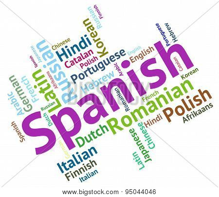 Spanish Language Represents Speech Spain And Foreign