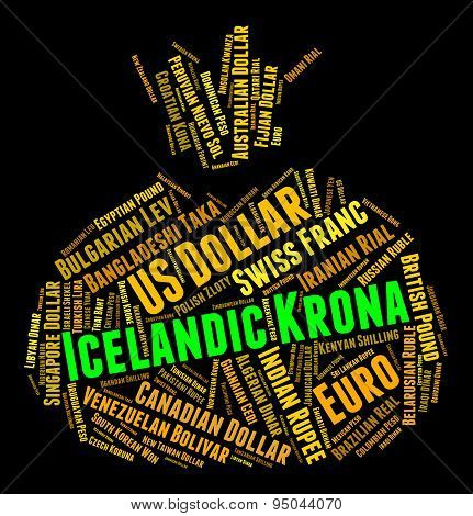 Icelandic Krona Represents Forex Trading And Banknotes