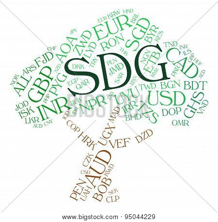 Sdg Currency Means Foreign Exchange And Coinage